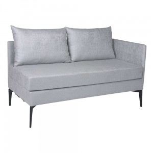 MARTA sofa 2 osobowa ( element lewy ) light grey
