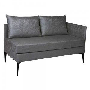 MARTA sofa 2 osobowa ( element lewy )  grey
