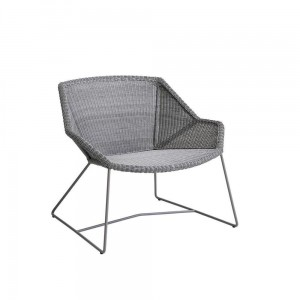 BREEZE Cane-line fotel. Light grey.