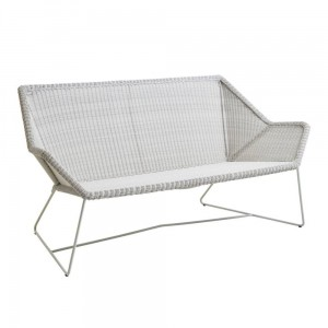 BREEZE Cane-line sofa 2 osobowa. White grey.