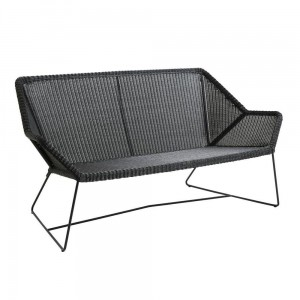 BREEZE Cane-line sofa 2 osobowa. Black.