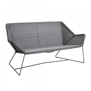 BREEZE Cane-line sofa 2 osobowa. Light grey.