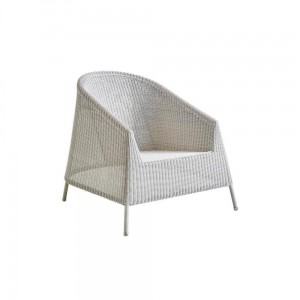 KINGSTON Cane-line fotel Lounge WHITE-GREY