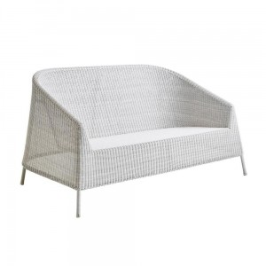 KINGSTON Cane-line sofa lounge WHITE-GREY