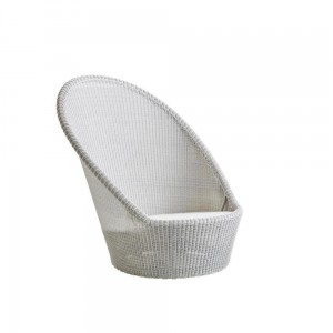 KINGSTON SUNCHAIR Cane-line obrotowy fotel WHITE-GREY