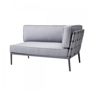 CONIC Cane-line Air-Touch® sofa ogrodowa 2 osobowa. light grey lewa