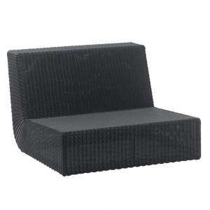 SAVANNAH sofa moduł prosty black