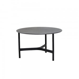 TWIST coffee table, medium, lava grey