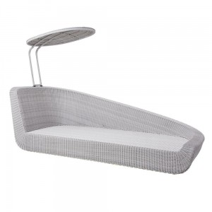 SAVANNAH DAYBED moduł lewy white-grey