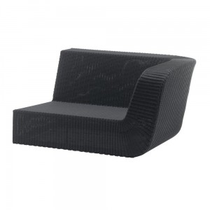 SAVANNAH sofa 2 osobowa lewa black