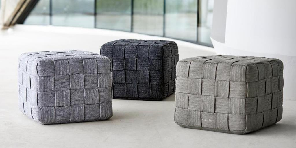 CUBE Footstool Cane-line